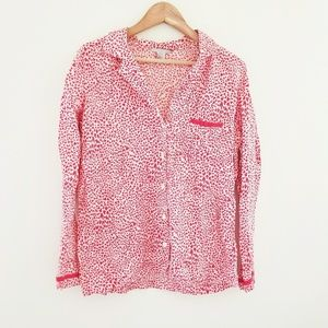 🎃 Victoria's Secret Button Up Pajama Top Sz M